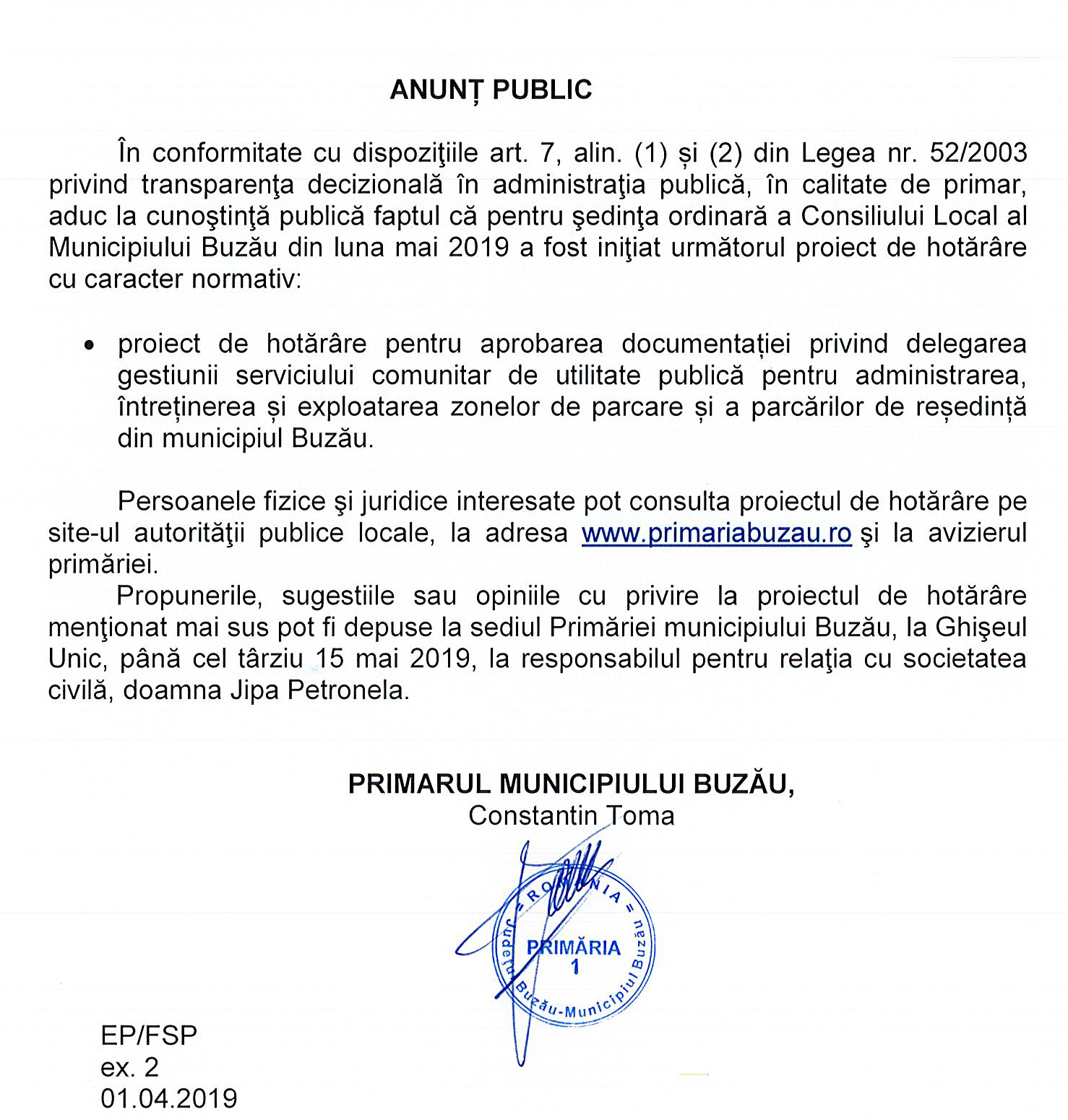Anunț Public (1)